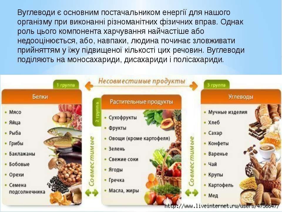Вуглеводи є основним постачальником енергії для нашого організму при виконанн...