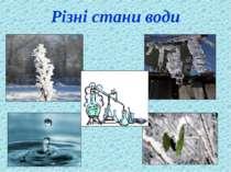 Різні стани води
