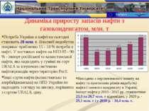 Динаміка приросту запасів нафти з газоконденсатом, млн. т Потреба України в н...
