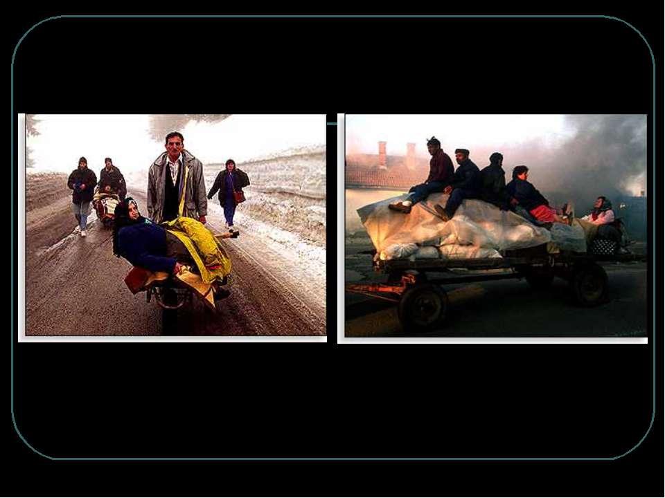 Косовські албанці, яких виселили серби з рідних місць, перетинають кордон з Ч...