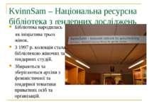 KvinnSam – Національна ресурсна бібліотека з ґендерних досліджень Бібліотека ...
