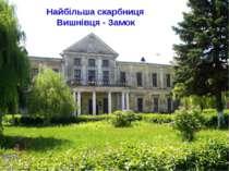 Найбільша скарбниця Вишнівця - Замок