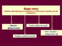 Види пилу (залежно від характеру та вираженості патологічного процесу, що він...