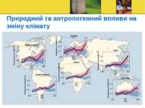 Природний та антропогенний впливи на зміну клімату