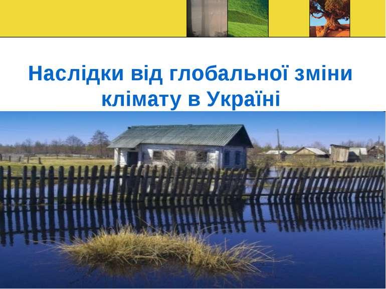 Наслідки від глобальної зміни клімату в Україні