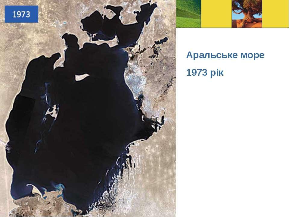 Аральське море 1973 рік