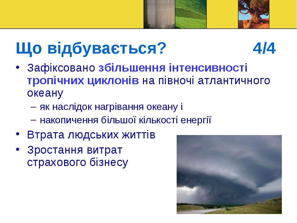 Що відбувається? 4/4 Зафіксовано збільшення інтенсивності тропічних циклонів ...