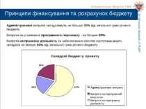 Адміністративні витрати складатимуть не більше 20% від загальної суми річного...