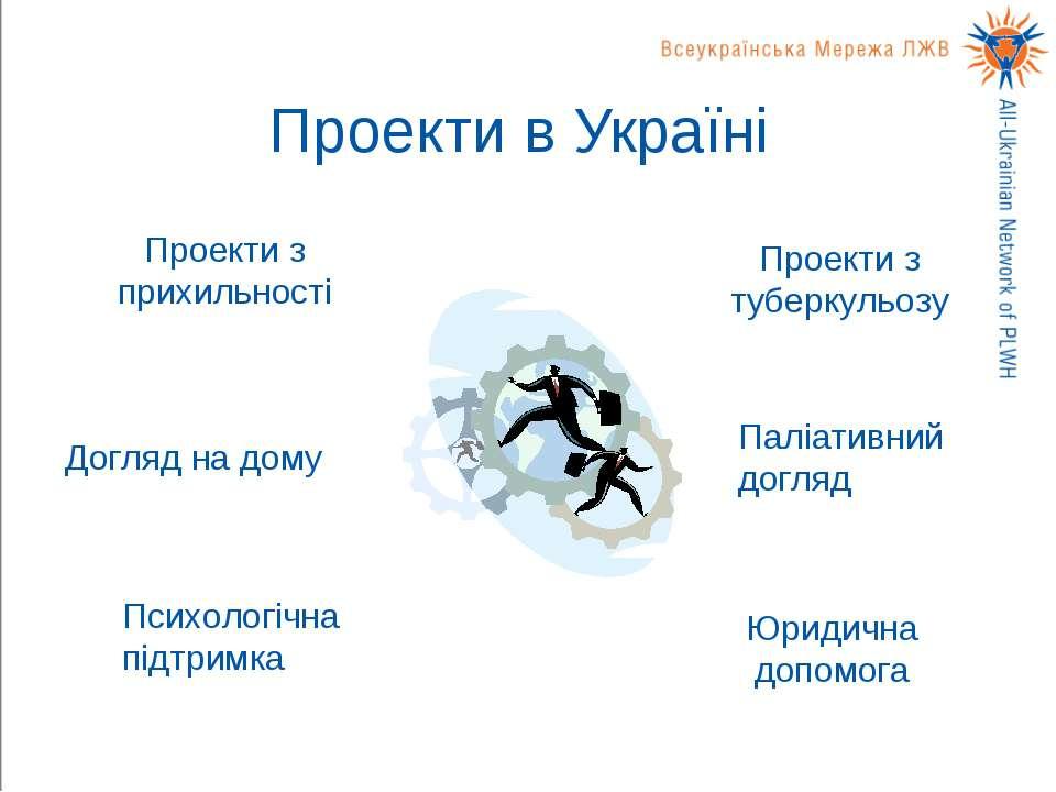 Проекти в Україні Проекти з прихильності Догляд на дому Проекти з туберкульоз...