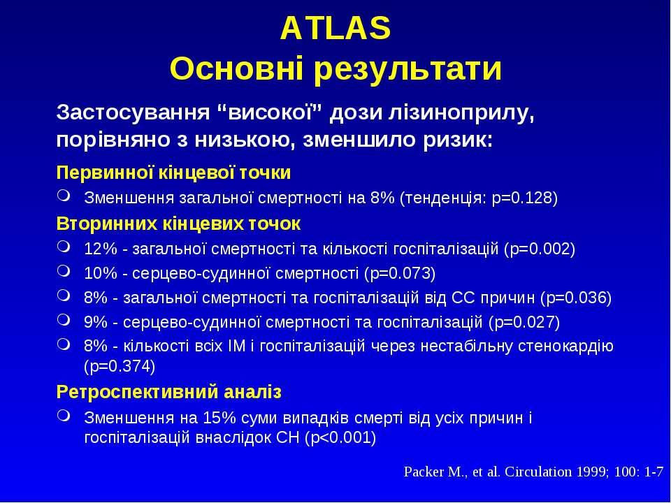 ATLAS Основні результати Первинної кінцевої точки Зменшення загальної смертно...