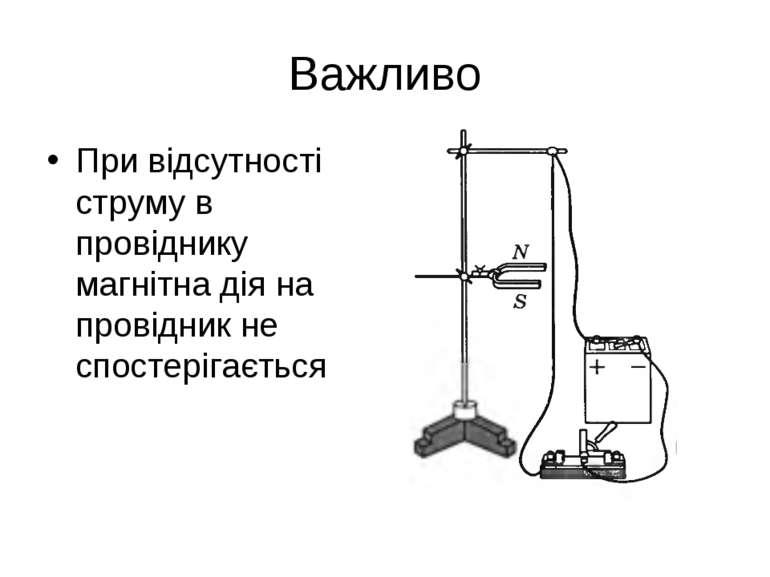Важливо При відсутності струму в провіднику магнітна дія на провідник не спос...