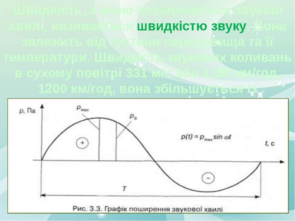 Швидкість, з якою поширюються звукові хвилі, називається швидкістю звуку. Вон...