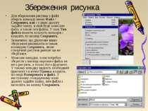 Збереження рисунка Для збереження рисунка у файл оберіть команду меню Файл / ...