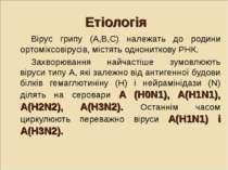 Етіологія Вірус грипу (А,В,С) належать до родини ортоміксовірусів, містять од...