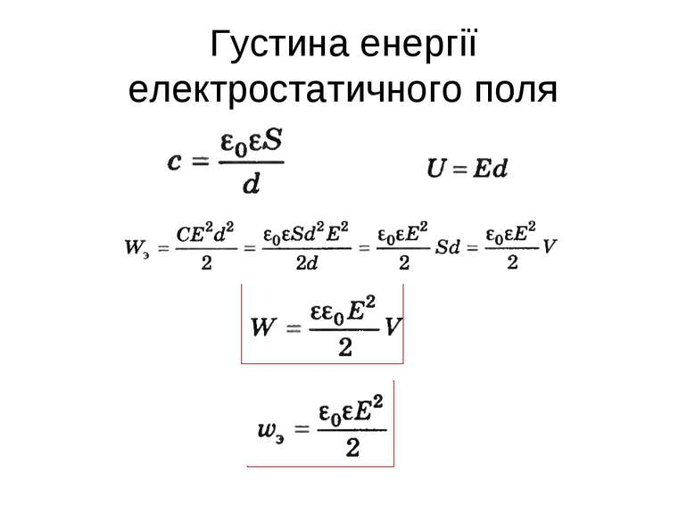 Густина енергії електростатичного поля