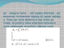 де-модуль сили,-орт радіус-вектора,що визначає положення заряду q0що...
