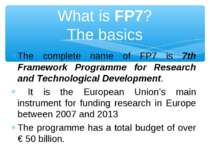 7th Framework Programme for Research and Technological Development