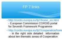 http://cordis.europa.eu/fp7/home_en.html - European Commission CORDIS portal ...