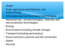 Health Food, agriculture and fisheries, and biotechnology Information and com...