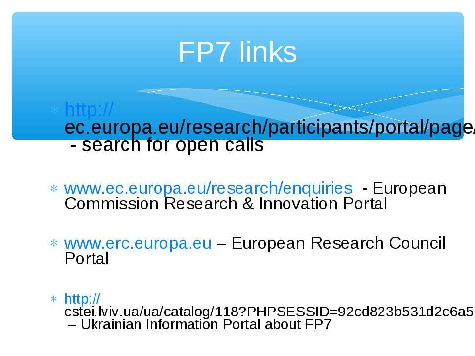 http://ec.europa.eu/research/participants/portal/page/searchcalls - search fo...