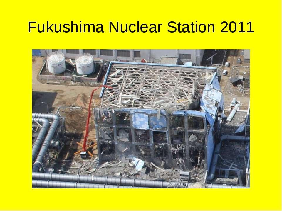 Fukushima Nuclear Station 2011