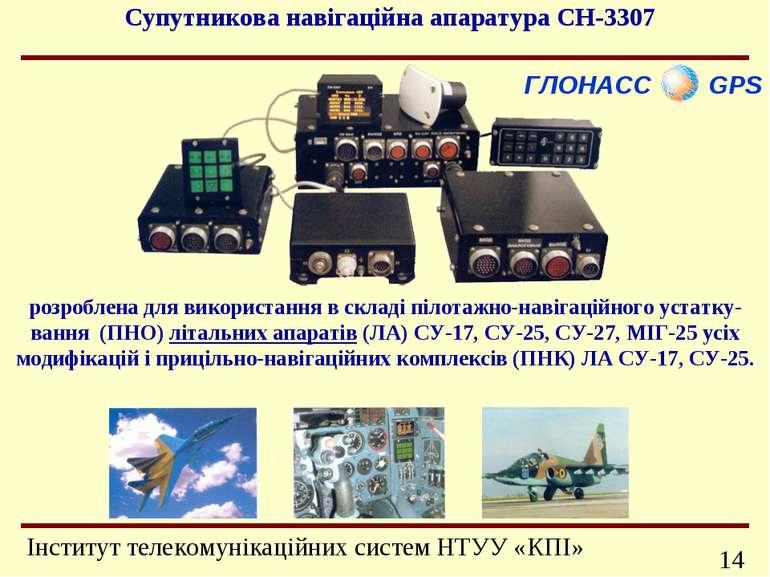 ГЛОНАСС GPS розроблена для використання в складі пілотажно-навігаційного уста...