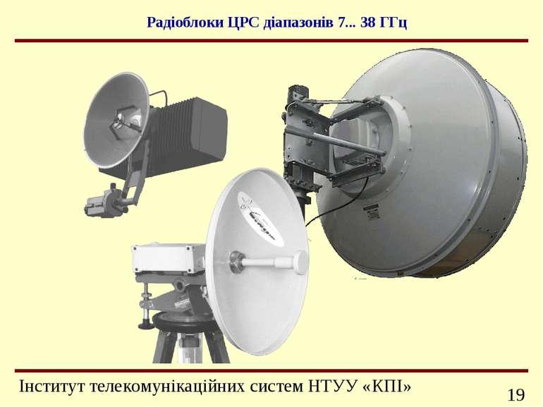 Радіоблоки ЦРС діапазонів 7... 38 ГГц Інформаційно-телекомунікаційні системи ...