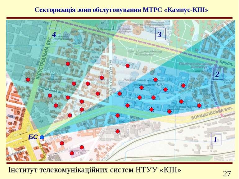 БС 4 3 2 1 Секторизація зони обслуговування МТРС «Кампус-КПІ» Інформаційно-те...