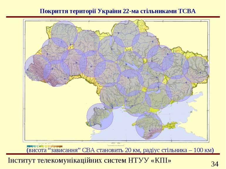 """Покриття території України 22-ма стільниками ТСВА (висота """"зависання"""" СВА ста..."""