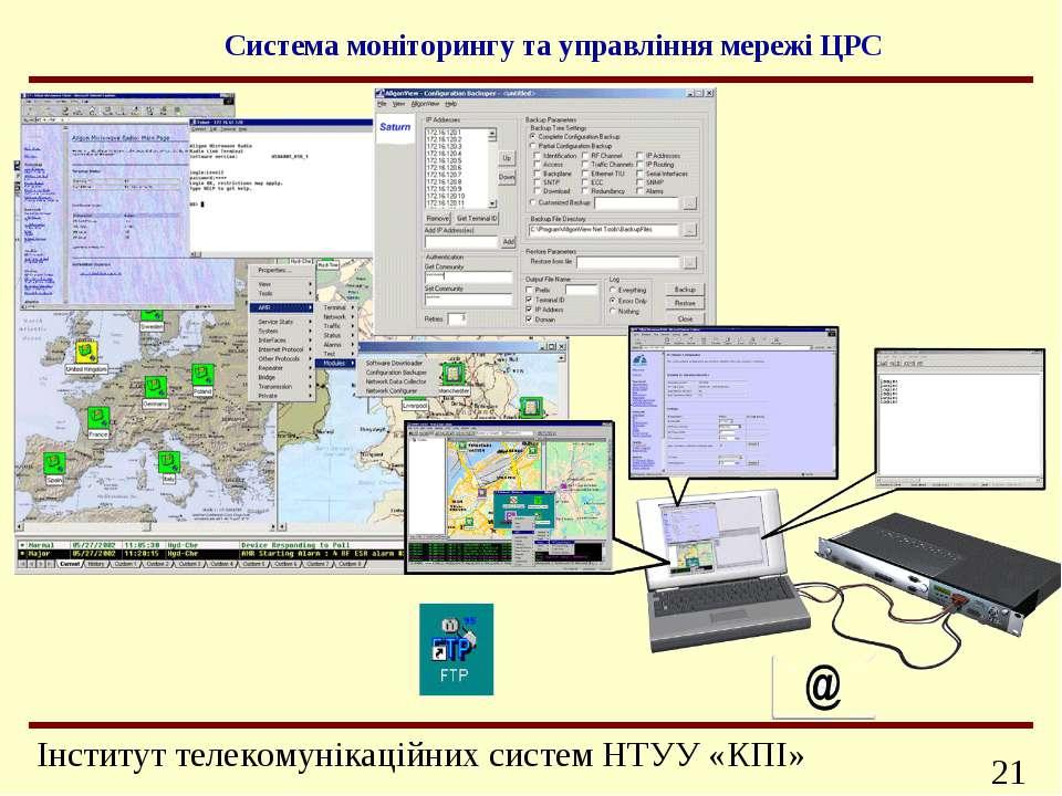 Система моніторингу та управління мережі ЦРС Інформаційно-телекомунікаційні с...
