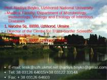 Prof. Nadiya Boyko, Uzhhorod National University - Medical Faculty, Departmen...