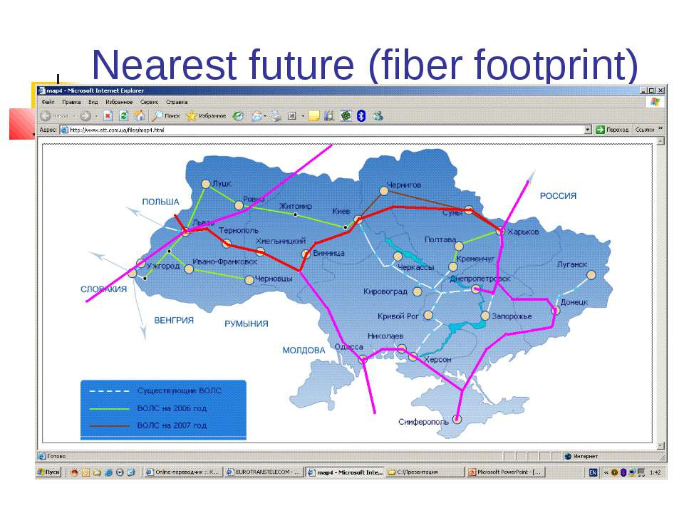 Nearest future (fiber footprint)