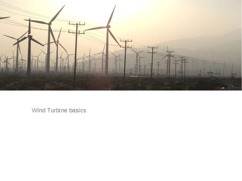 Wind Turbine basics