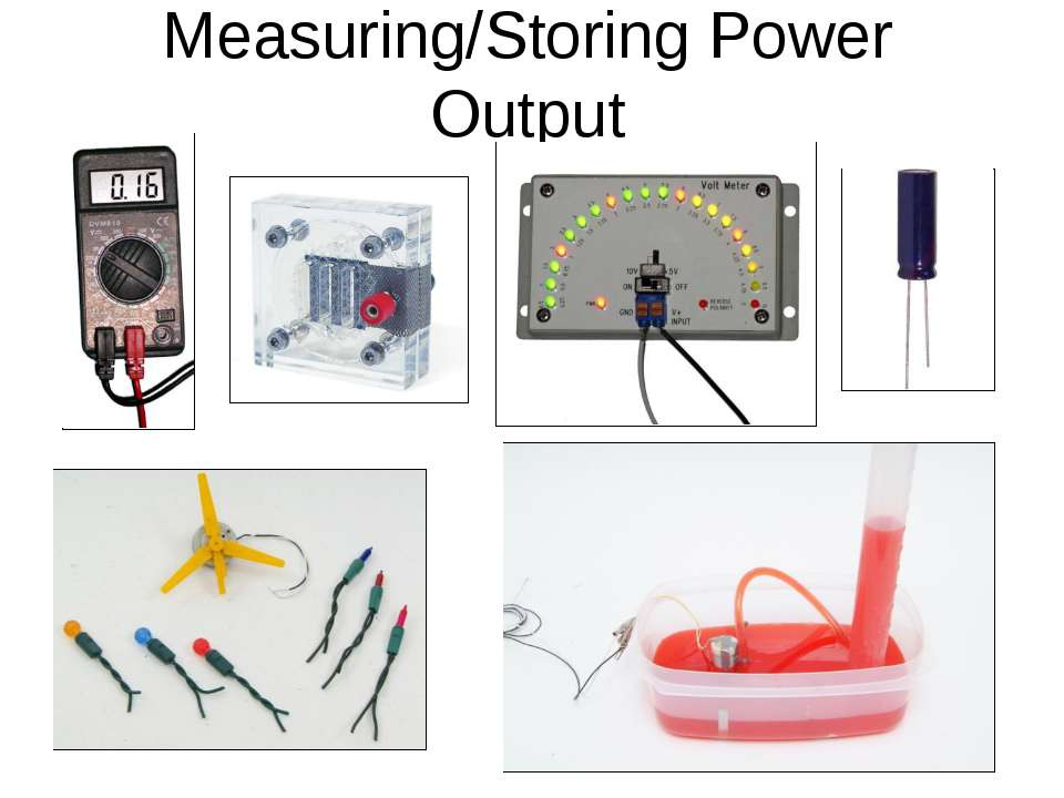 Measuring/Storing Power Output