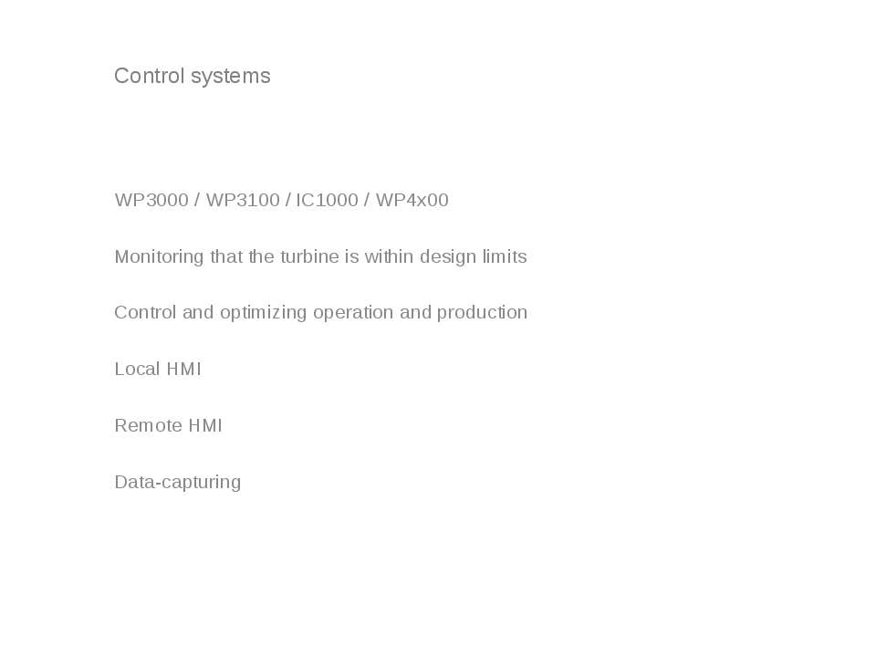 Control systems WP3000 / WP3100 / IC1000 / WP4x00 Monitoring that the turbine...