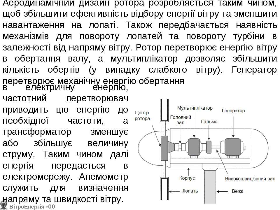 Аеродинамічний дизайн ротора розробляється таким чином, щоб збільшити ефектив...