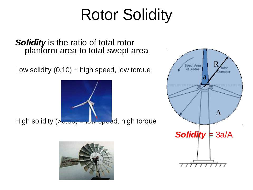 Rotor Solidity Solidity is the ratio of total rotor planform area to total sw...