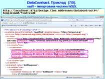 DataContract. Приклад (7/8). xsd0 – імпортована частина WSDL http://localhost...