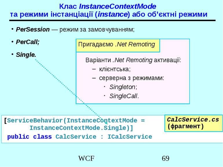 Клас InstanceContextMode та режими інстанціації (instance) або об'єктні режим...