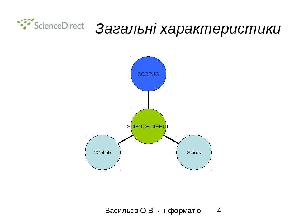 Загальні характеристики Васильєв О.В. - Інформатіо