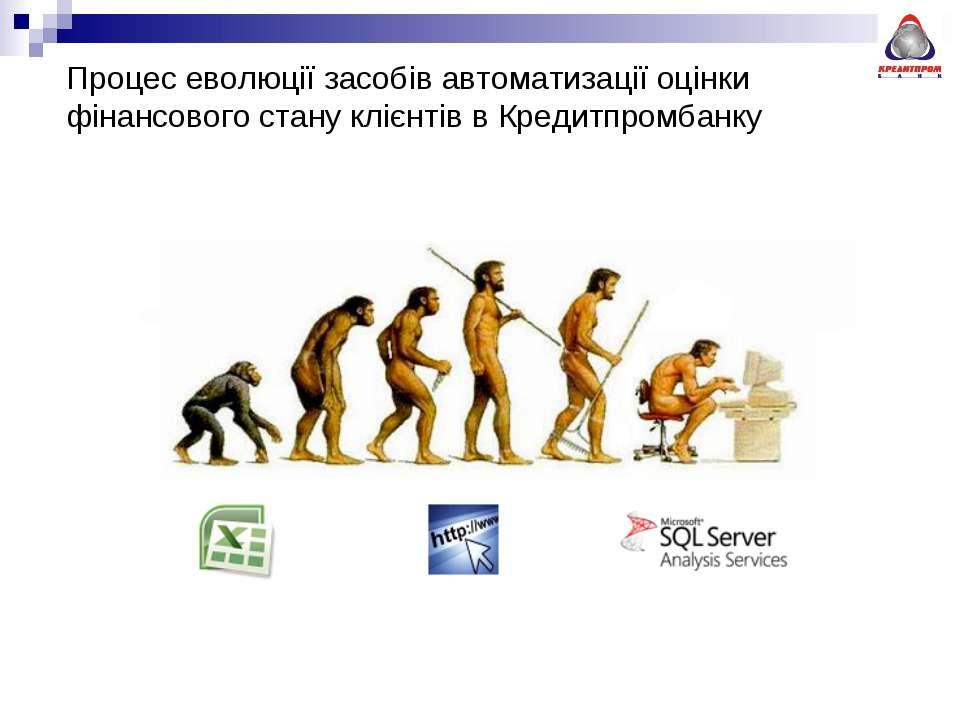 Процес еволюції засобів автоматизації оцінки фінансового стану клієнтів в Кре...