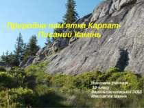 Природна пам'ятка Карпат- Писаний Камінь Виконала учениця 10-класу Верхньоясе...
