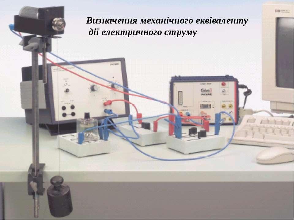 Визначення теплової дії електричного струму Визначення механічного еквівалент...