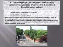 4.2. Реконструкція (реставрація і реабілітація) Байкового кладовища, 1 черга ...