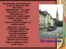 Ця держава розташована у центрі Європи між Австрією і Швейцарією. Постійно пр...