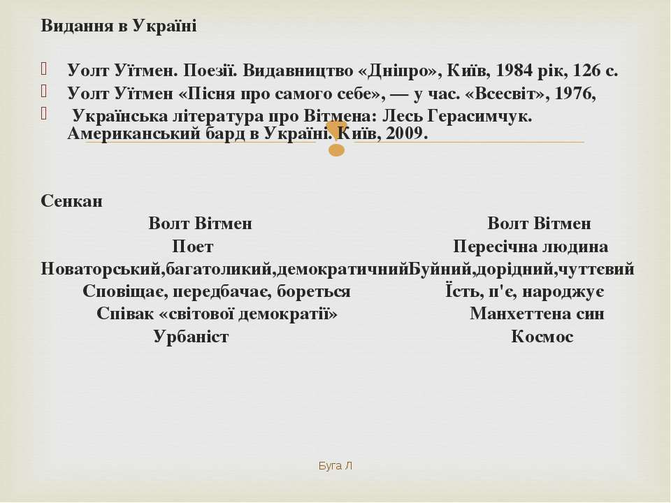 Видання в Україні Уолт Уїтмен. Поезії. Видавництво «Дніпро», Київ, 1984 рік, ...