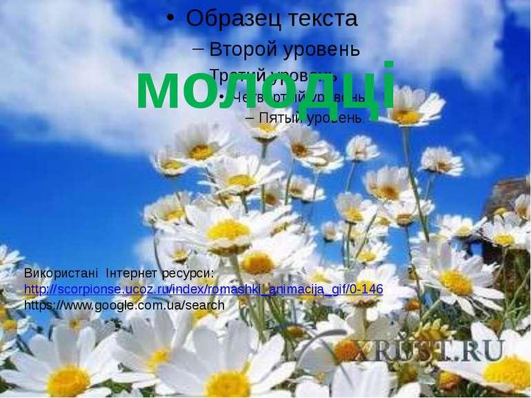 молодці Використані Інтернет ресурси: http://scorpionse.ucoz.ru/index/romashk...