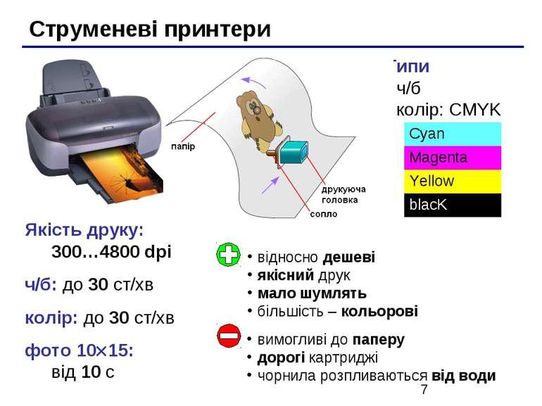 Якість друку: 300…4800 dpi ч/б: до 30 ст/хв колір: до 30 ст/хв фото 10 15: ві...
