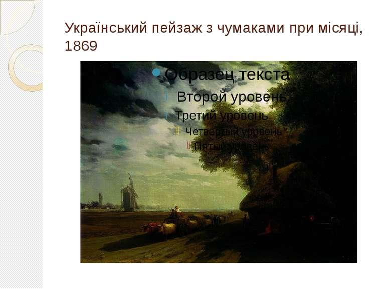 Український пейзаж з чумаками при місяці, 1869
