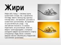 Жири Жири або товщі — велика група органічних сполук, які, з фізичного погляд...